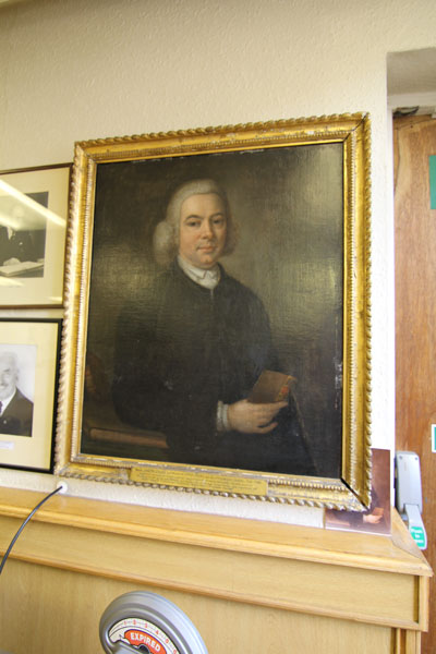 Portrait of Rev. Joseph Evans (1725 - 1803), Minister at Upper Chapel for 40 years.