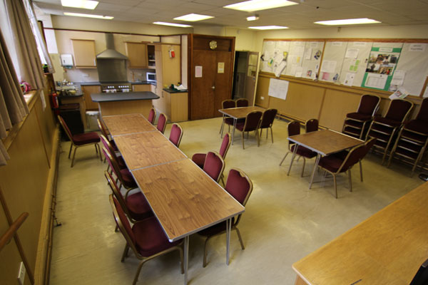 The Hollis Room and kitchen for use by the Congregation.