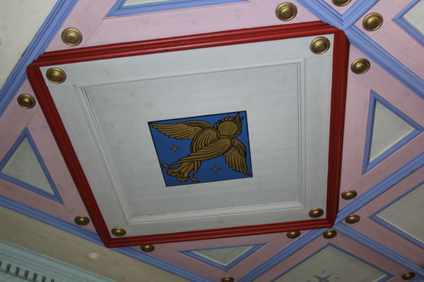 Detail from the Chapel ceiling:  The Angel representing St. Matthew.