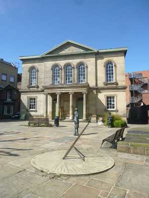 Upper Chapel Unitarian Church Sheffield - front courtyard