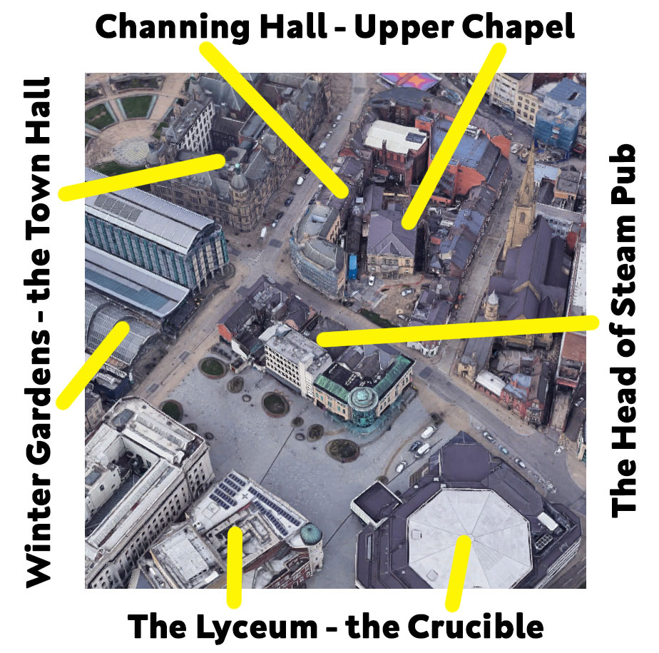 Upper Chapel & Channing Hall location