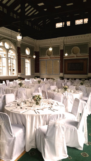 Channing Hall wedding reception venue in Sheffield